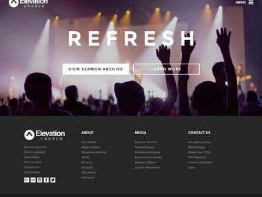 Elevation Church Informational Website