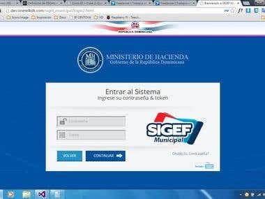 Sistema Integrado de Gestión Financiera Municipal (SIGEF).