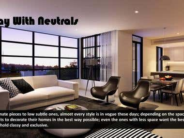 Article - Interior Design: Play with Neutrals