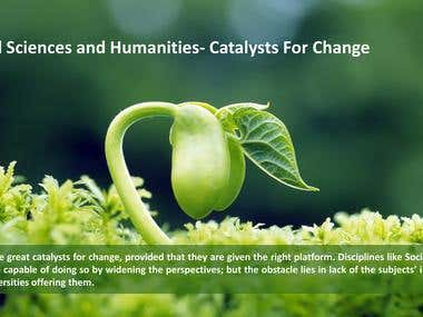 Article - Social Sciences: Catalyst for Change