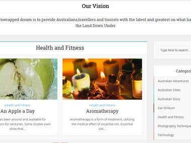 Wordpress Based Article Website