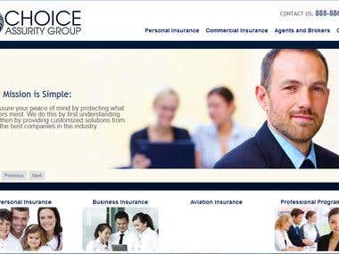 WordPress website for a US-based insurance company
