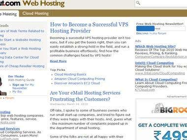 Web Hosting Guide for About.com - A Part of NY Times Company