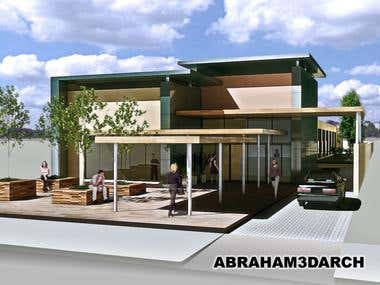 Architectural design for a dental clinic surgery building.