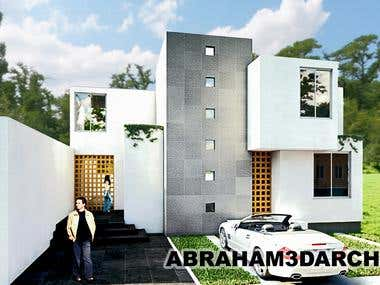 Villa´s house facade, architectural design and renders.