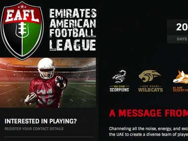 Emirate American Football League - Responsive