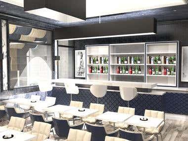 Interior Design for renovation in Restaurant