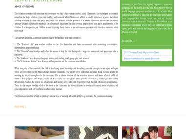 Worpress base website