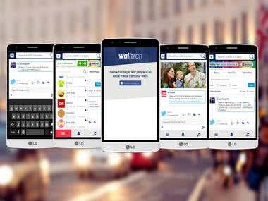 Walltran Social App