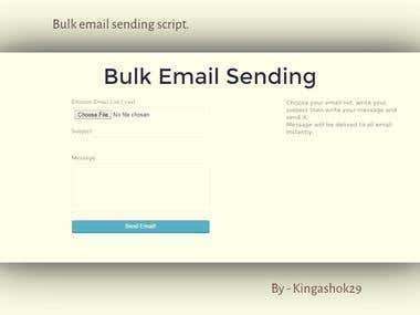 Bulk email sending script