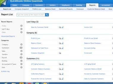 Bookkeeping Using Quickbooks Online