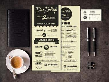 Rack card and business card design
