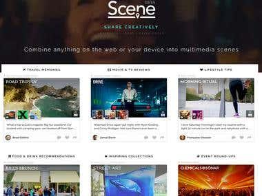 Sce.ne Website