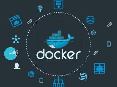 Docker-container control system