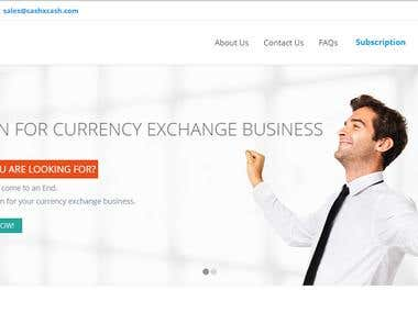 Currency Exchange SAAS ( Software As a Service ) Application