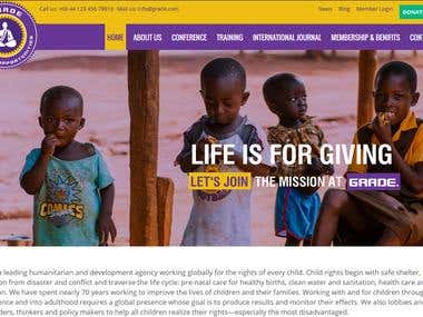 NGO website with CMS and Paypal integrated