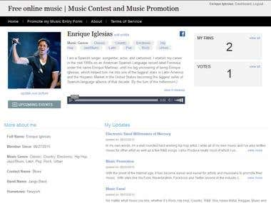 Musical Contest Website with CMS