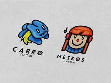 CARRO & MEIKOS Logos