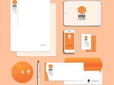 Corporate Identity for Hanna Sushi