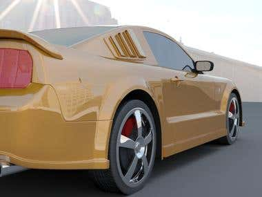 3D Mustang Car