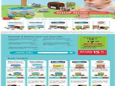 eCommerce Store: kids food shopping website