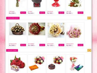 Ecommerce Site design & develop In cake php framework