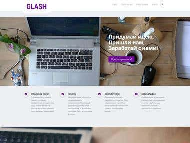 glash.ru - site with social network elements