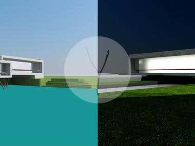 Before - After 3D Rendering