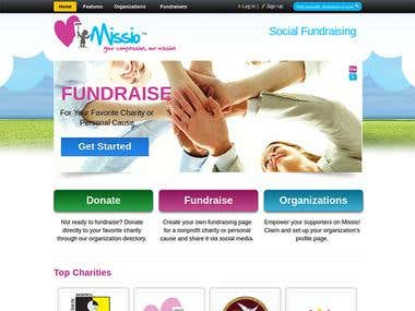 MyMissio Fundraiser Portal