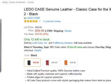 Amazon Phone Case Variations Listings
