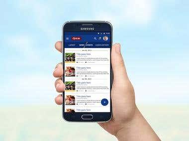 UI/UX Design of School Managmement Mobile App