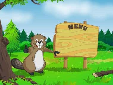Beaver on Hoverboard - Game Screens