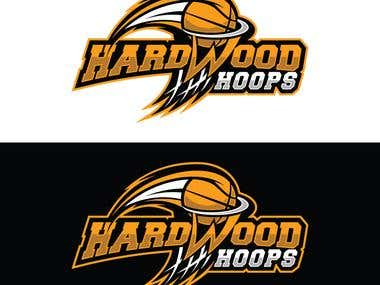Hardwood Hoops Logos