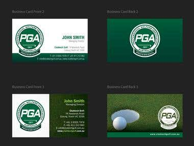 PGA Business Card