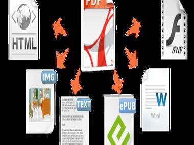 PDFs Conversion