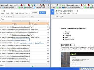 Google Doc & Google Sheet