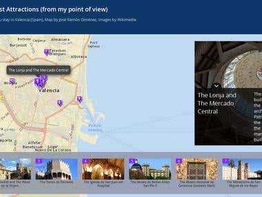 Geocoding and web map