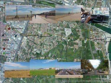 Georeferenced images and gps data