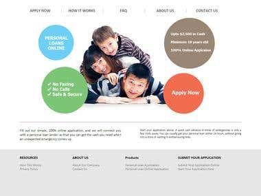 Landing Page Loan Company