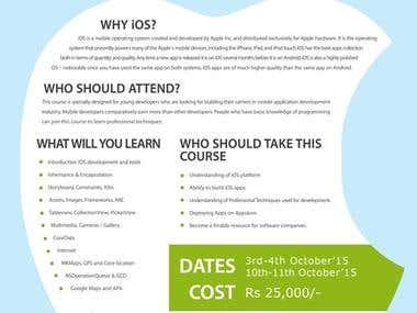 iOS course Poster Design