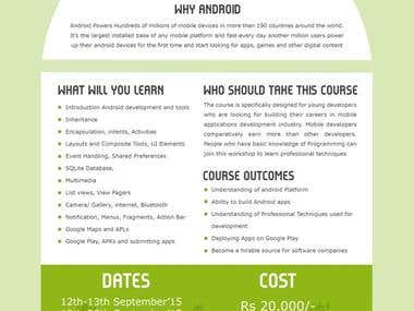 Android course Poster Design - EME
