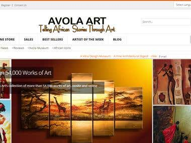 Art gallery website Joomla.
