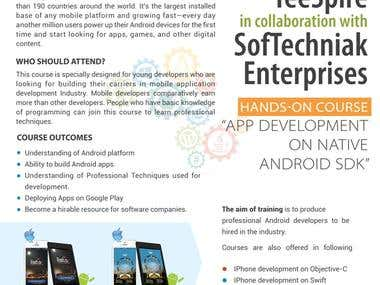 Android course Poster Design - SoftTechniak