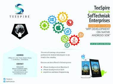 Android Course Brochure Design - SoftTechniak
