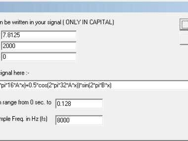 Symbolic Equation Parser & Digital Filter & FFT Lab.