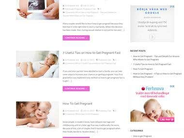 Create a responsive blog for GetPregnant.TIPS