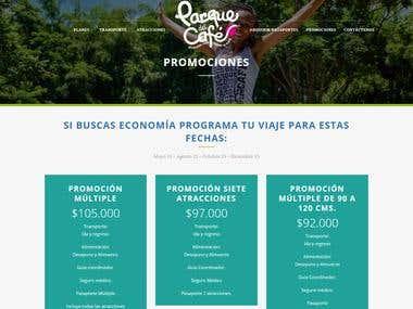 Diseño Web/Web Design Responsive parquedelcafe.travel