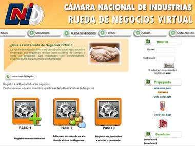 Web Portal Rueda de Negocios CNI Bolivia