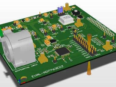 AD7763EDZ Analog to Digital Board PCB layout