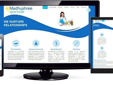 Madhushree Ayurveda Concept and Web Design